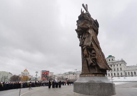 Освящение памятника князю Владими