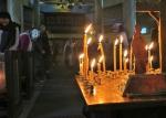 Каждение во время пения Со святымиупокой