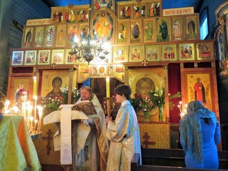 Праздничное Евангельское чтение на Литургии
