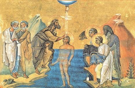 Крещение Господне  - храмовая фреска