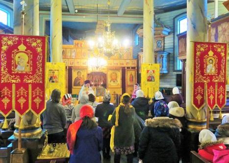 В приходском храме в праздник Богоявления
