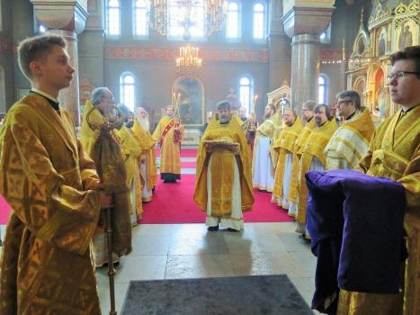 Встреча архиереев в Успенском соборе Хельсинки