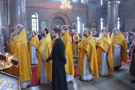 Собор духовенства во время Архиерейской проповеди
